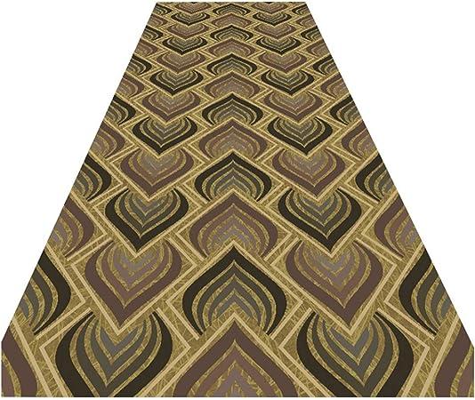 ZEMIN-Alfombras De Pasillo Antideslizante Felpudo for Corredor Pasillo Escalera Alfombras De Área, Moderno Geométrico Modelo, Marrón (Color : A, Size : 0.6x8.5m): Amazon.es: Hogar