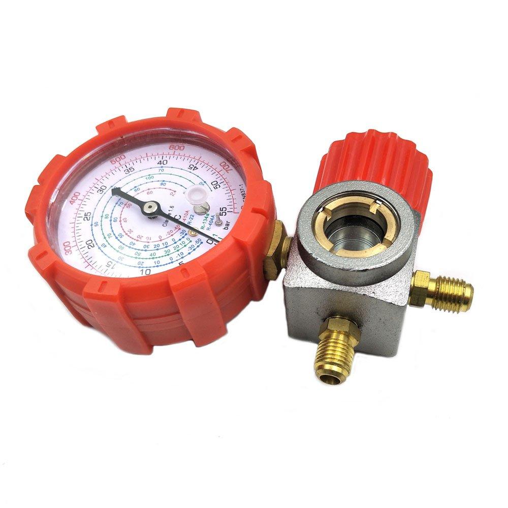 Rosso e Blu R134 R410a R22 R404a manometrico Alto manometro di Bassa Pressione Senza Tubo Flessibile