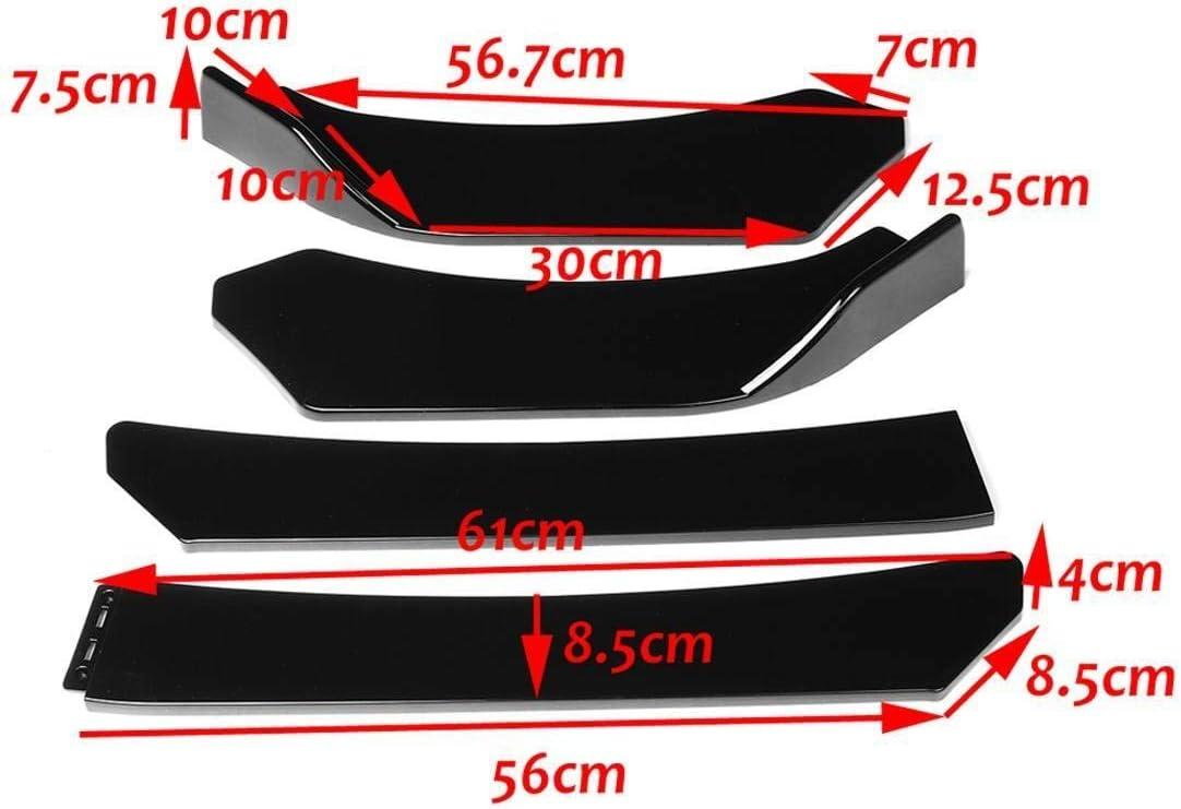 Frente 4PCS Universal Auto De Choque De Labios Body Kit Aler/ón Divisor Fit For Mazda 3 6 CX3 CX5 CX4 MX5 RX8 Fit For BMW Parachoques Negro