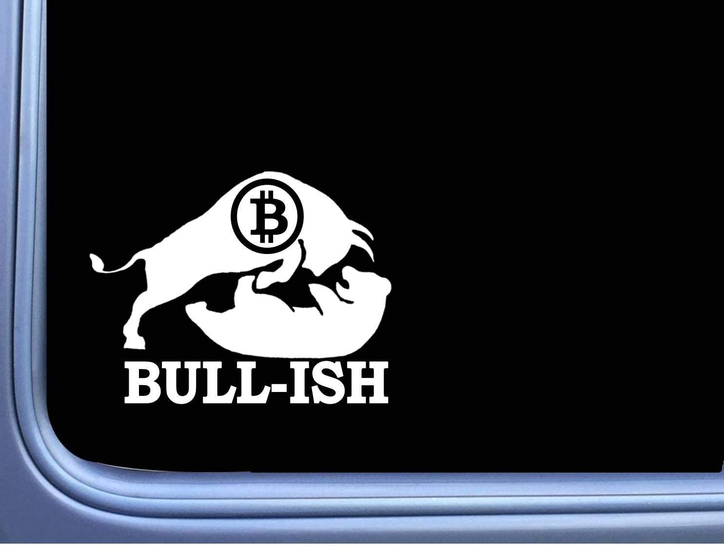 "Bullish Bitcoin TP 265 6"" Stock Market Decal Sticker Crypto Wallet Investing Vinyl Decal for Cars, Trucks, Laptops"