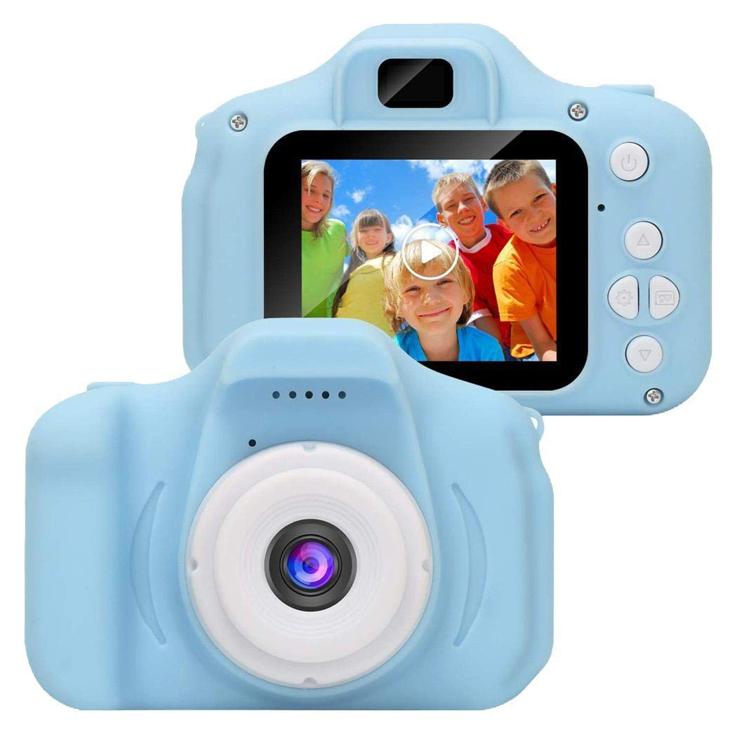 flowop Kids Camera, Cute Kids Digital Video Camera Gifts, Mini Child Camcorder with Shockproof Dual Lens 1280x720p 2 Inch Screen by flowop