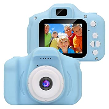 Niños Cámara Digital Grabadora de Vídeo Cámaras Mini Camara Fotos 2 Pulgadas Soporte de Tarjeta de 32GB TF (Sin Tarjeta TF)