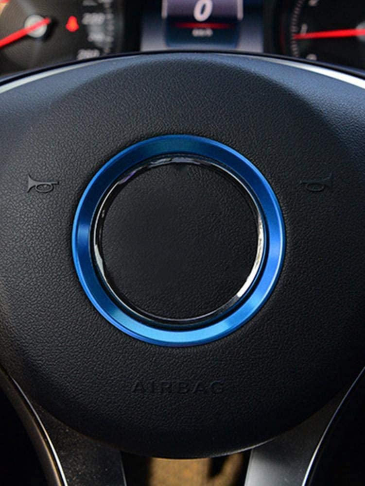 Desirabely Steering Wheel Trim for Mercedes-Benz C-class GLE CLA GLC E-class A-class GLK GLA Interior Modification Bright Circle Car decoration