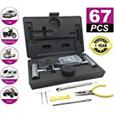 67PCS Tyre Puncture Repair Recovery Kit 4WD Offroad Heavy Duty Plugs Tubeless