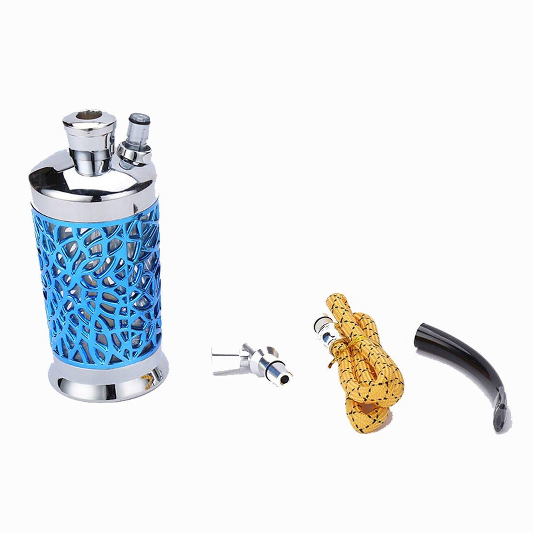 Mini Size Blue 1 Hose Hookah with Accessories Set Shisha Metal Material