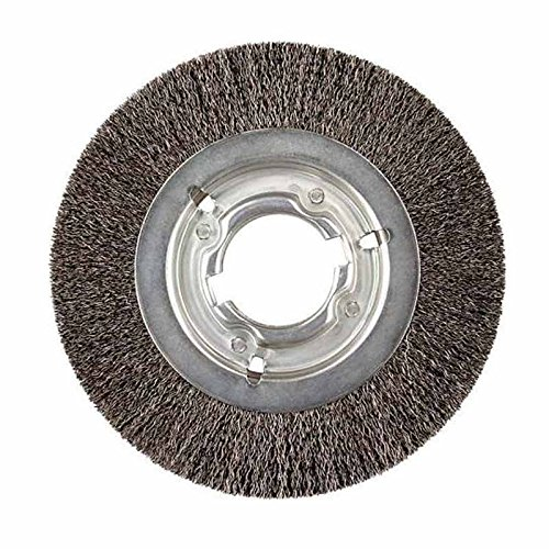 Pferd 81255 Wide Face Crimped Wheel Brush, Carbon Steel Wire, 10