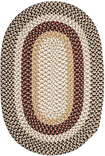 Colonial Mills Braided Round Area Rug 6' Brick Brown Burmingham - Rug Burmingham Brown Brick