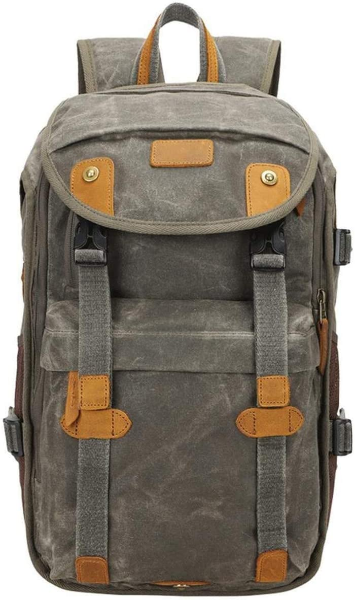 Mihaojianbing Army Green DSLR Camera Backpack Fashion Photography Casual Travel Bag Camera Backpack Laptop Tripod Lens 28 X 20 X 46 cm Pratical