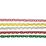 NICO-STYLE 【知育玩具】プラスチックチェーン 5色セット おままごと 食べ物 キッチン 保育園 児童館 デコパーツ アクセサリーパーツ プラチェーン おもちゃ