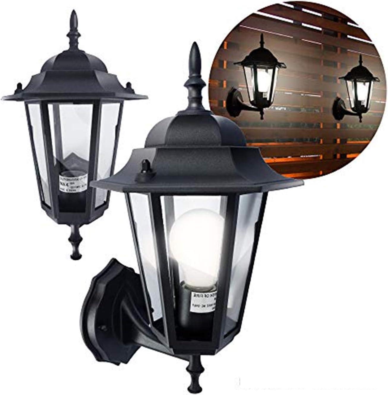 ETOPLIGHTING  2-Pack  Matte Black Aluminum Exterior Outdoor Wall Lantern for Porches, Entrances, Garages, Patios, APL1713