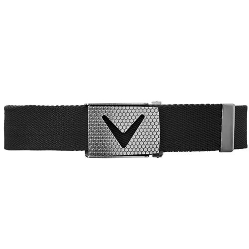 Callaway Men's Cut-to-fit Solid Webbed Belt