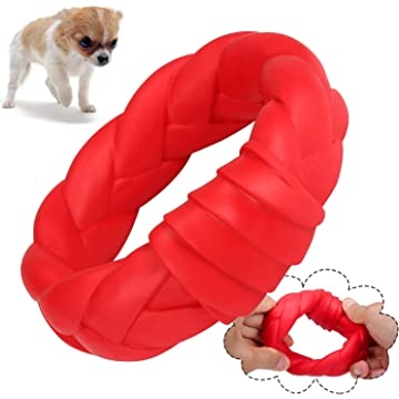 YUEJING Dog Chew Toys for Aggressive Chewers, Durable Dog Toys Tough Rubber Ring Toys, Natural Rubber Chew Toys for Training & Keeping Pets Fit,Suitable for Medium & Small Dogs