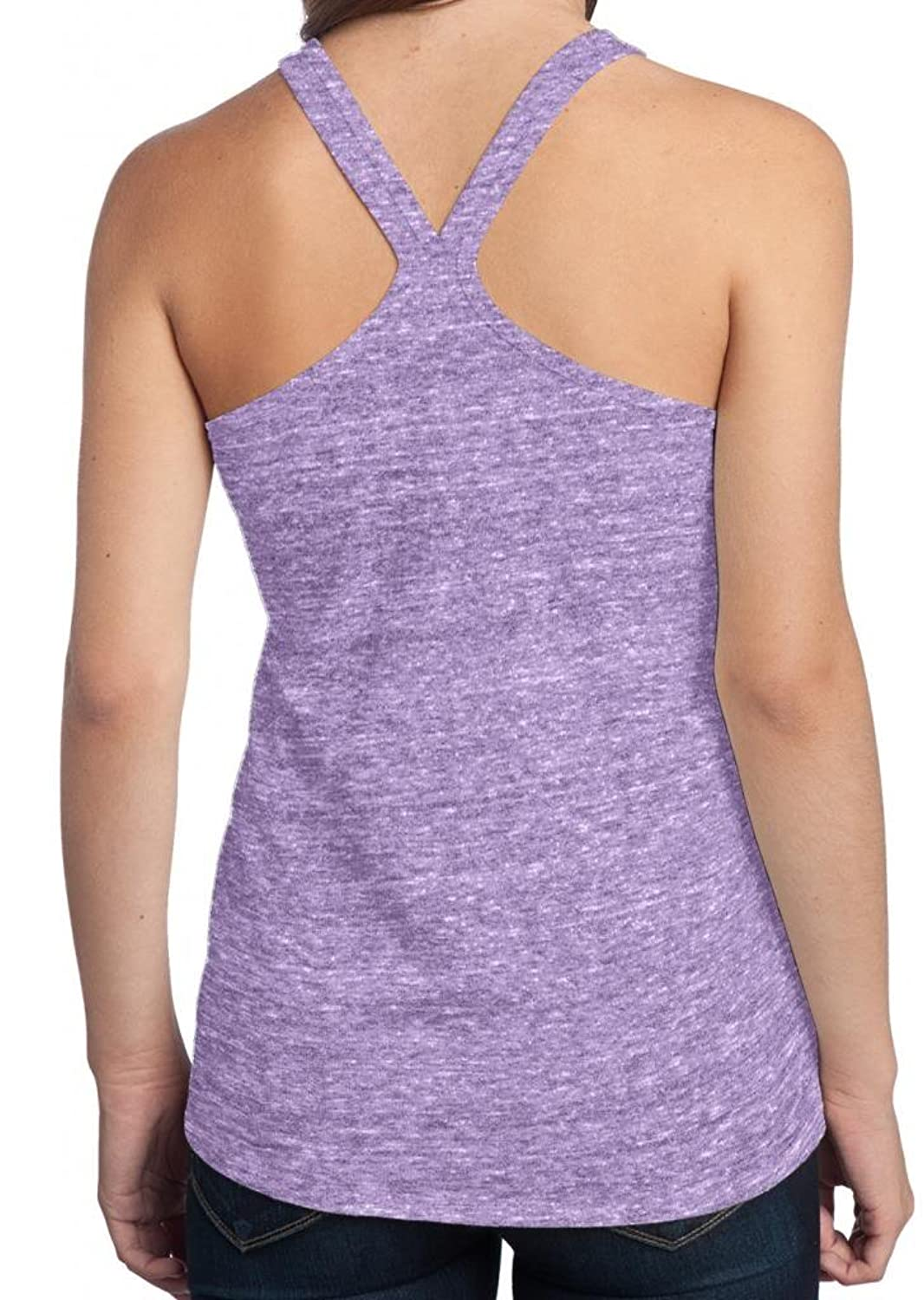 """Bendy People"" Ladies Copy Cat Cute T-back Yoga Tank Top"