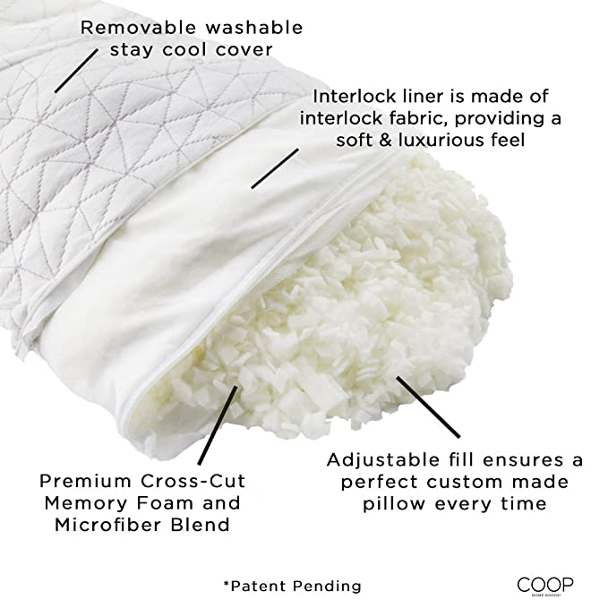 Coop Home Goods Bamboo Memory Foam Pillow Feauture