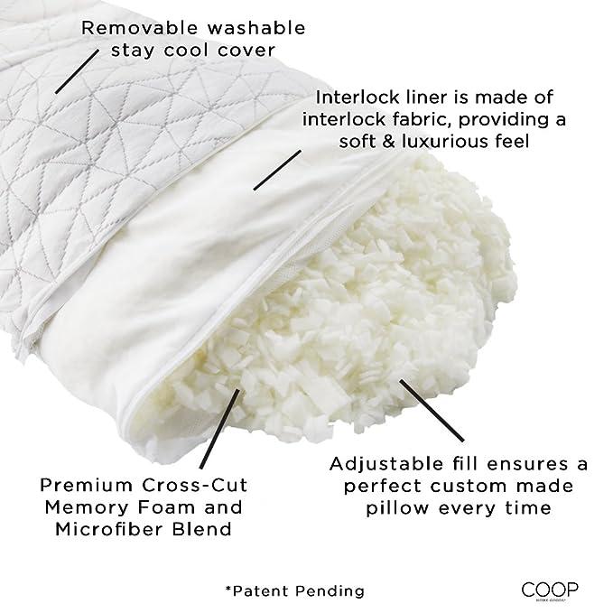 Coop Home Goods Bamboo Memory Foam Pillow Feauture