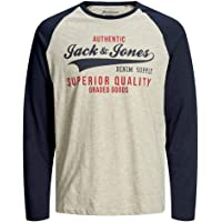 Jack & Jones Jjeraglan Logo tee L/S Noos Camiseta de Manga Larga para Hombre
