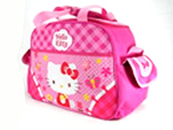 6237f033324 Image Unavailable. Image not available for. Colour  Sanrio Pink Daisies Hello  Kitty Duffle Bag - Hello Kitty Workout Bag