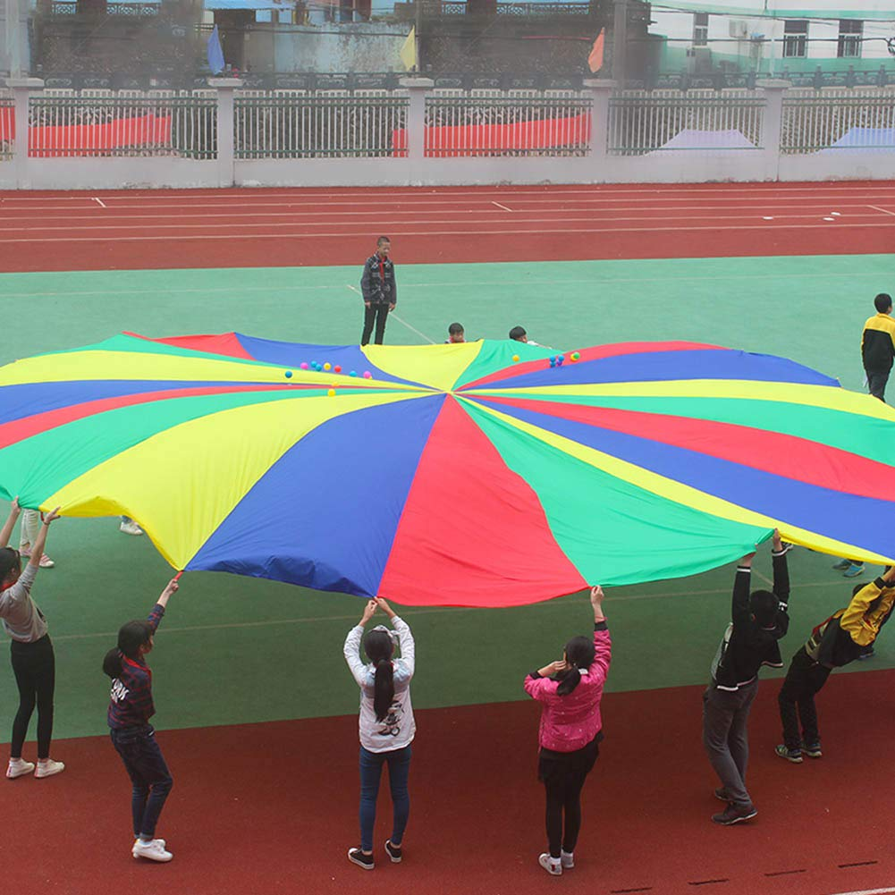 canghai Sports Multi-Colored Children's Team Building Parachute Rainbow Parachute Toy Tent for Children Gymnastic( L ) by canghai (Image #2)
