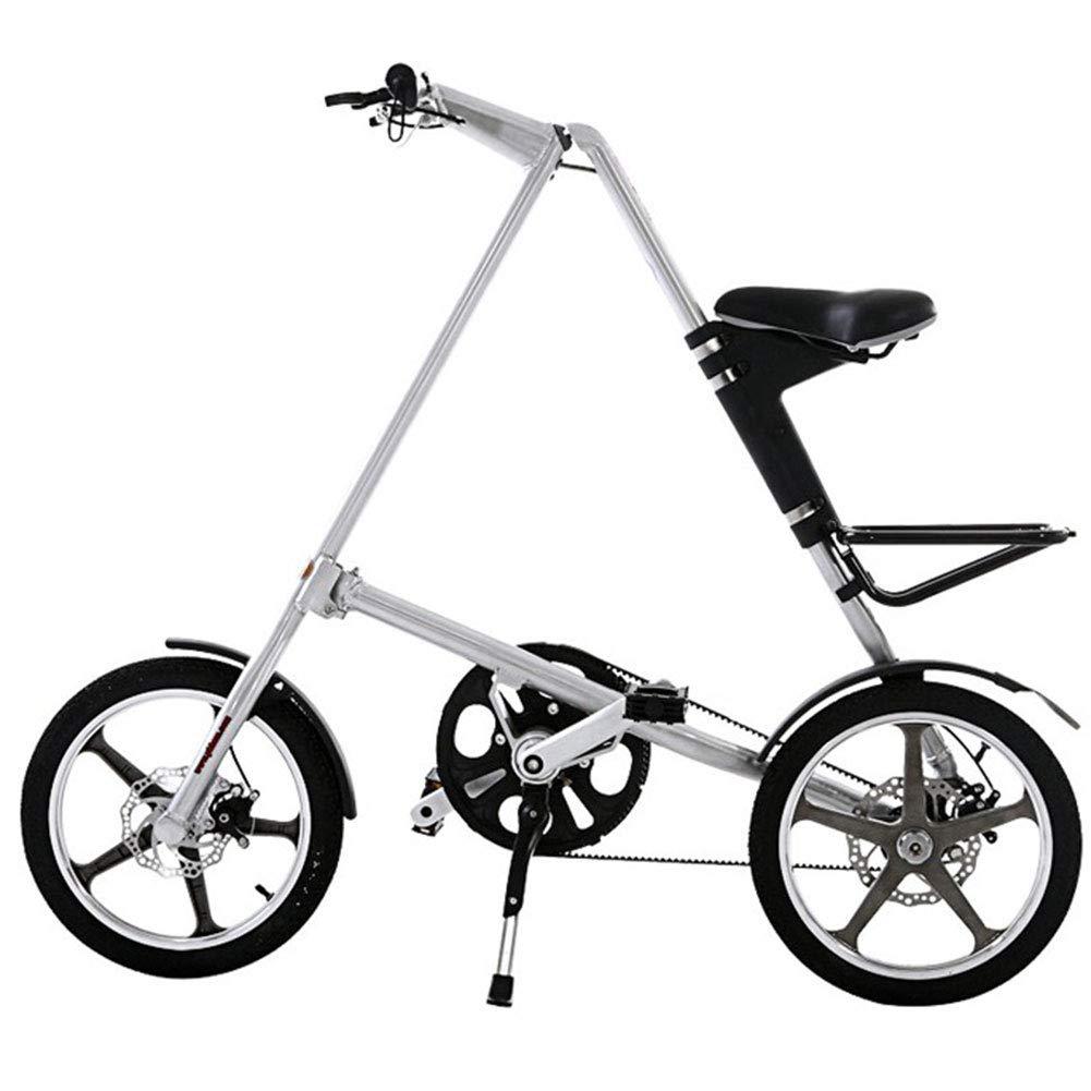 rojo WHKJZ Aluminio Bicicleta Plegable Marco 14 16  Unisex Tamaño pequeño fácil Llevar Adecuado para Muchas Ocasiones A Prueba de Herrumbre y Ligero