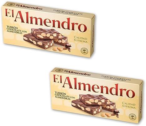 El Almendro - Pack incluye 2 Turrón de Chocolate con almendras - 250 gr Calidad suprema: Amazon.es: Alimentación y bebidas