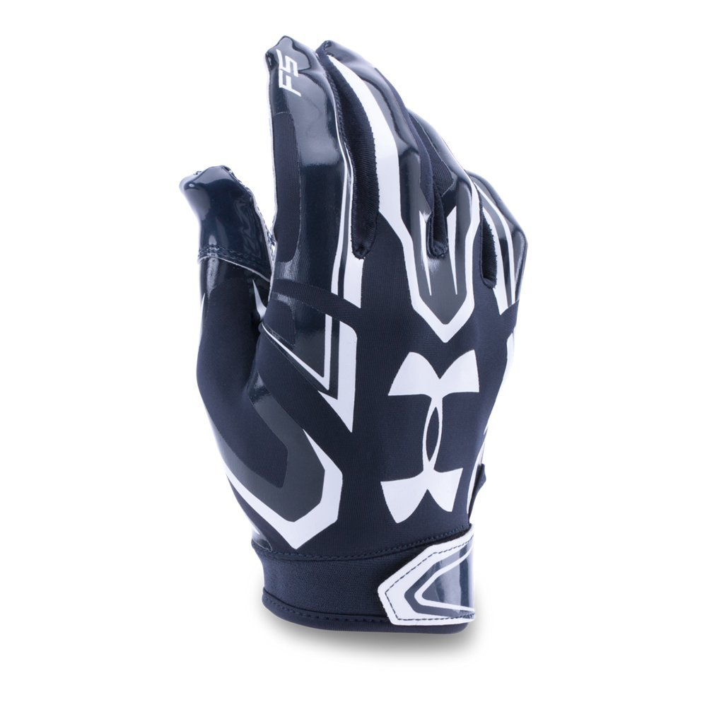 Under Armour Men's F5 Football Gloves, Midnight Navy/White, Small by Under Armour (Image #1)