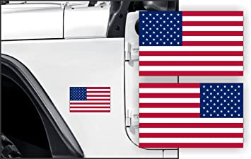 AMERICAN FLAG Stickers for Jeep Wrangler | USA Old Glory Decals 4x4 Off  Road Truck JK