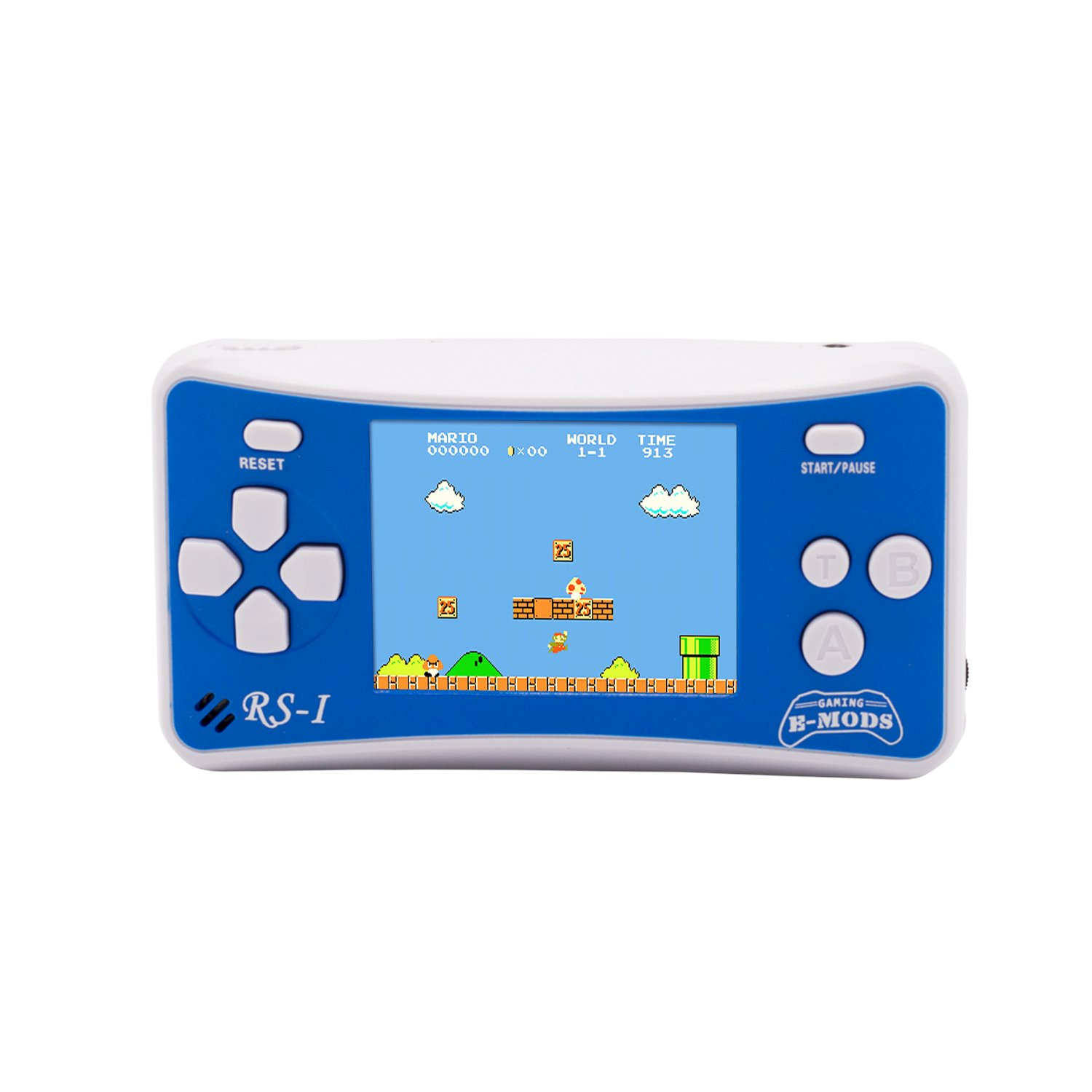 E-WOR (TM) Totally NEW! The Upgraded Version 2.5' LCD 8-Bit Retro 162x Video Games + 12-Bit Retro 10x Video Games Portable Handheld Console- Blue+White