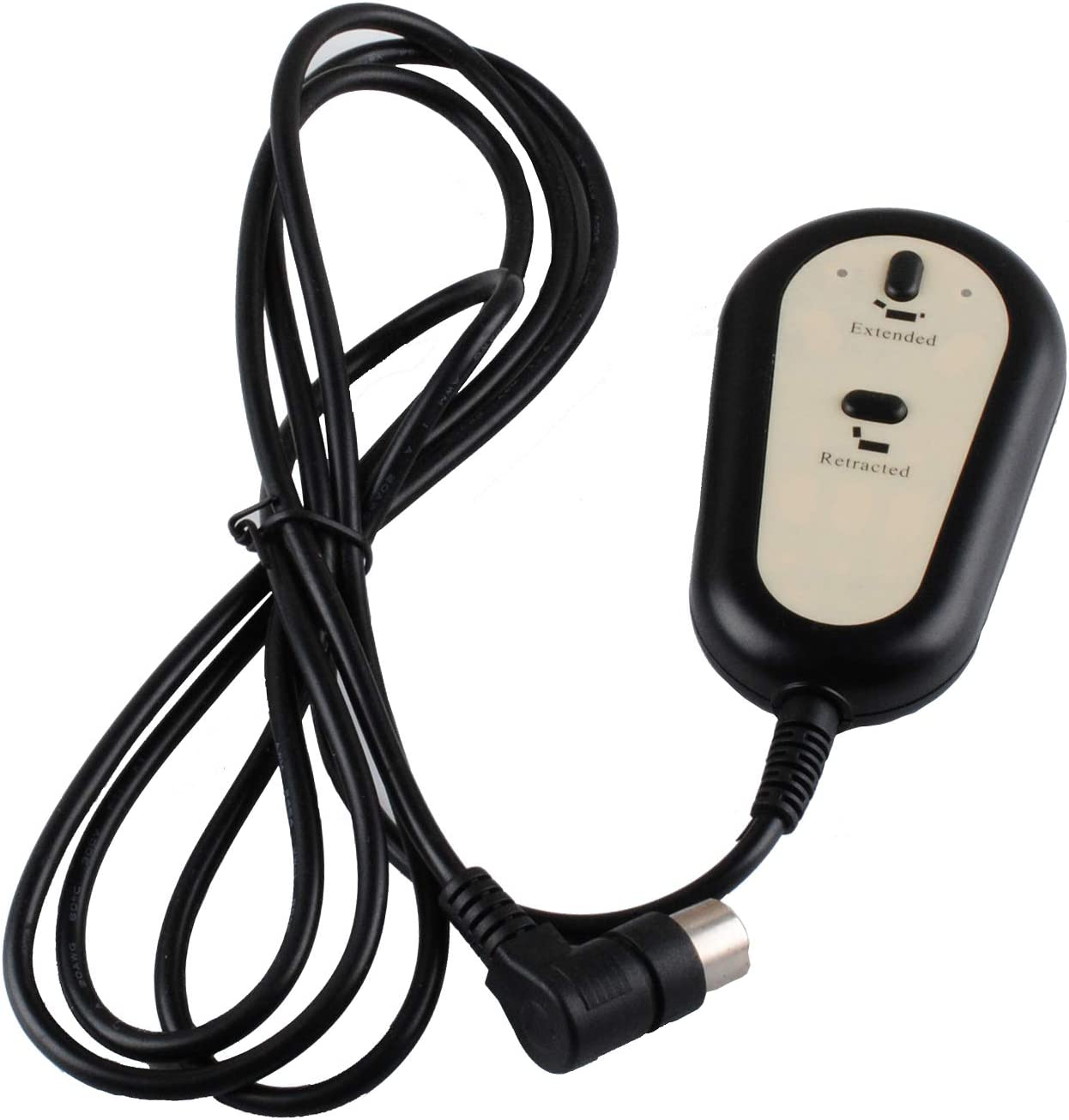 Podoy Recliner Controller Compatible with Dewert Okin Lift Chair Remote Lighted Hand Control 2 Button Round 5 Pins HC-6022 Replacement