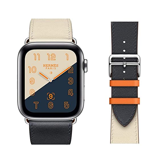 9ebe7c1a5a Amazon.com: Chimei Replacement for Apple Watch Band Leather 44mm ...