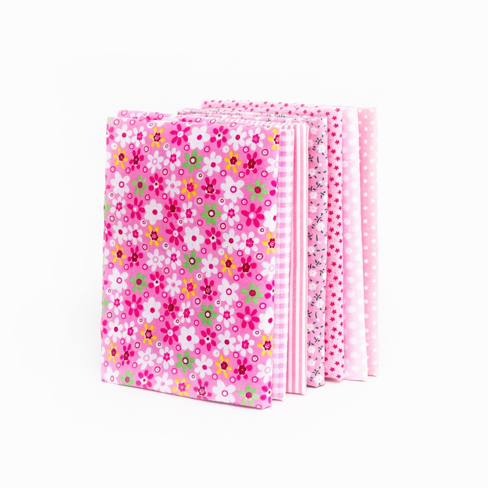 25cm Different Pattern Patchwork Fabric Craft Printed Cotton Material Mixed Squares Bundle Quilting Scrapbooking Sewing Artcraft DIY Fabric Black Series RayLineDo/® 7pcs 25