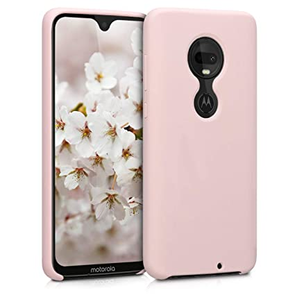 kwmobile TPU Silicone Case for Motorola Moto G7 / Moto G7 Plus - Soft  Flexible Rubber Protective Cover - Dusty Pink