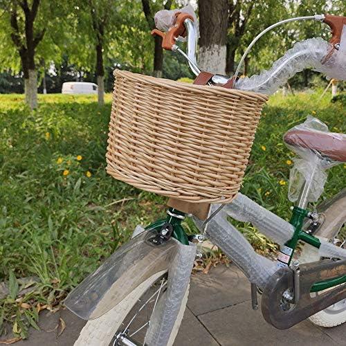 Zonjie Cesta De Bicicleta De Mimbre En Forma De D Cesta De Compra Portátil Cesta De Bicicleta De Montaña Cesta De Verduras Protección Ambiental Cesta Delantera Para Acampar Al Aire Libre Bolsas