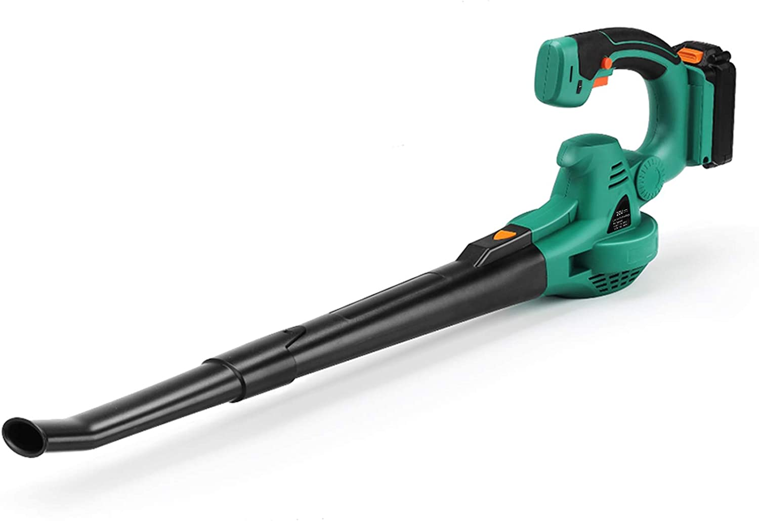 Cordless Leaf Blower, Powerful Electric Lightweight Leaf Blowers 20V MAX Battery-powered with 120mph Output, Adjustable Grip for Blowing Leaves, Clearing Dust (Battery & Fast Charger Included)