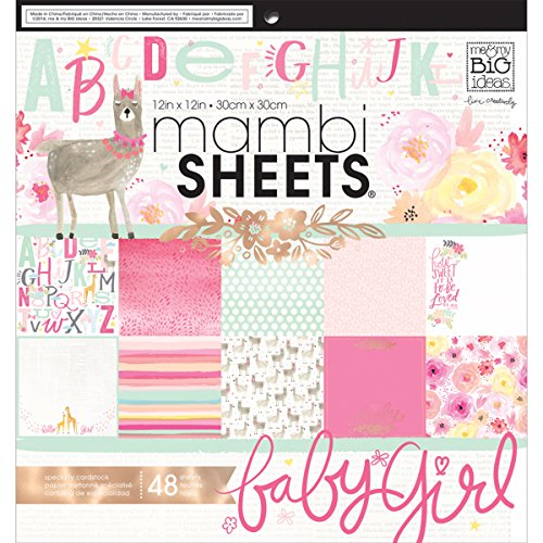 Me & My Big Ideas Darice MAMPADX.300 MAMBI Sheets Cdstk Pad She's So (Baby Girl 12x12 Album)