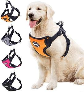 BINGPET No Pull Dog Harness Adjustable Soft Vest Reflective for Outdoor Walking