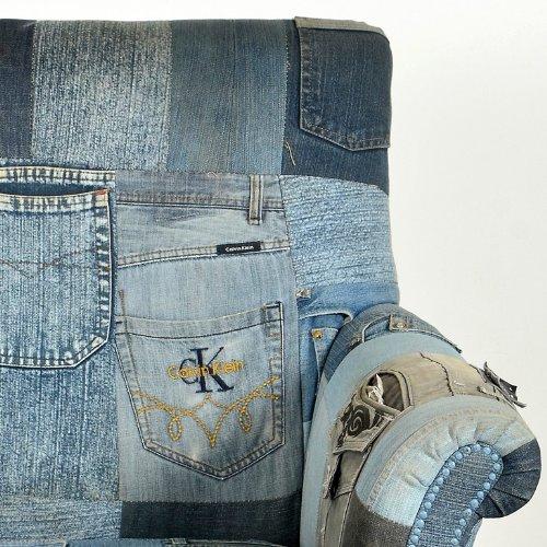 SalesFever Silla de pequeño Azul Patchwork Pantalones ...