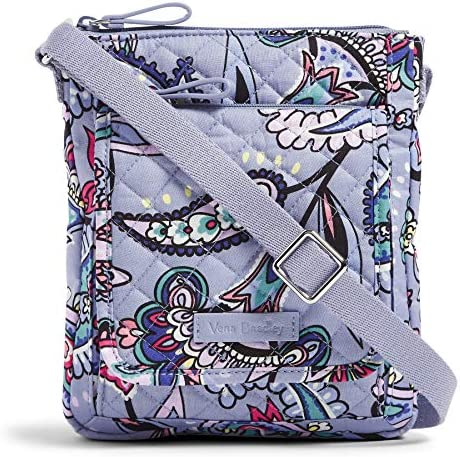Vera Bradley Women's Signature Cotton Mini Hipster Crossbody Purse with RFID Protection