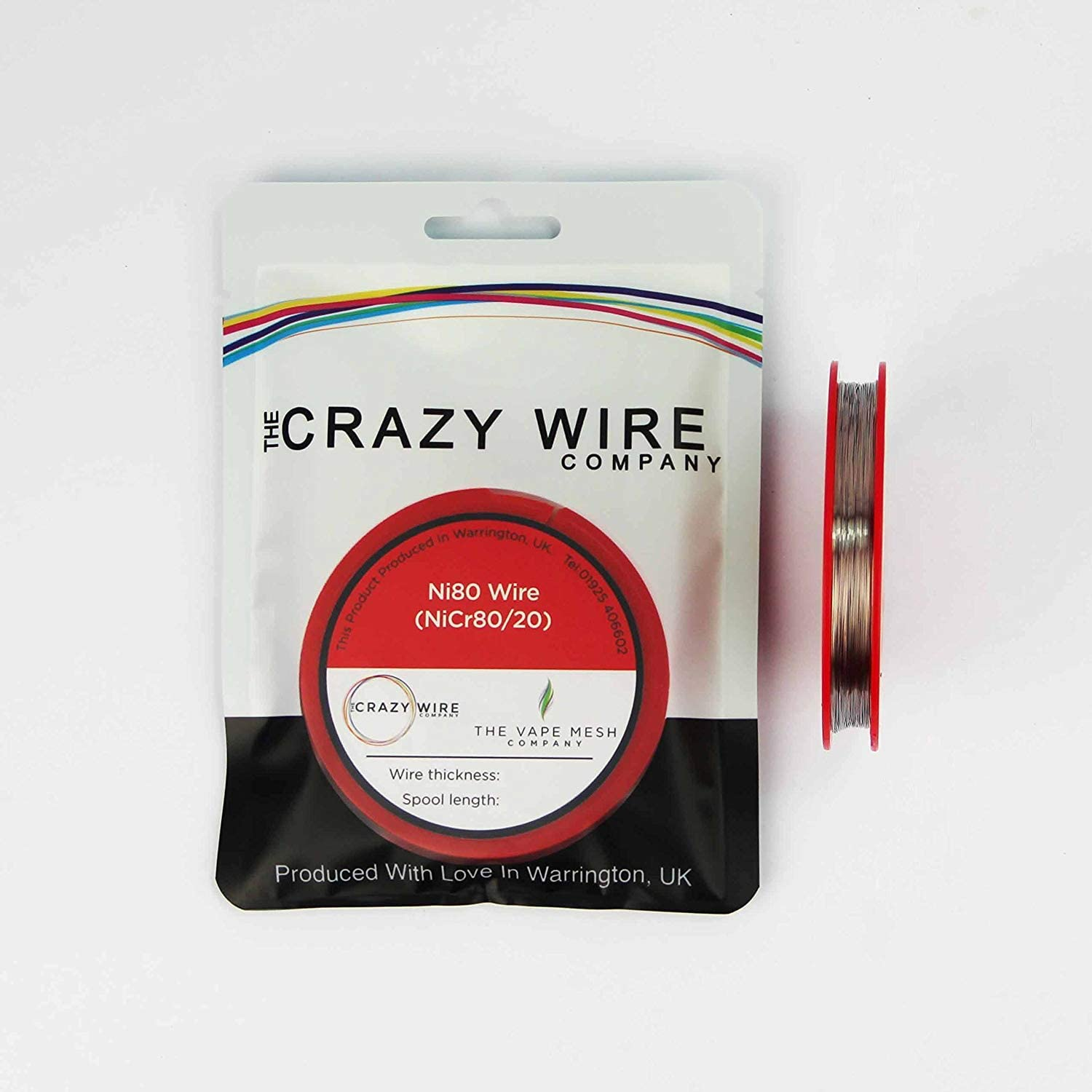 Round Resistance Wire 34 AWG 25 Metre 54.21 ohms//m Ni80 82.5 ft Spool Nichrome 0.16mm