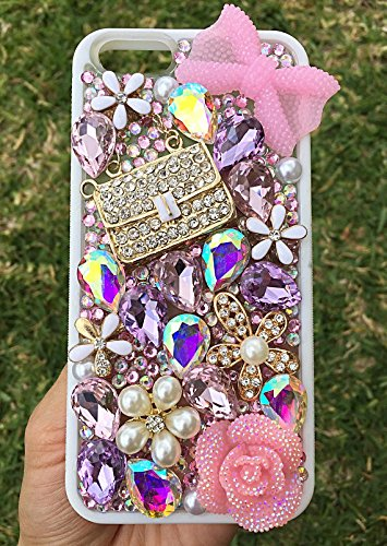 Amazon.com  iPhone 6 6s Pink Bling Bedazzled Crystal Handbag Phone Case   Handmade d507717a59