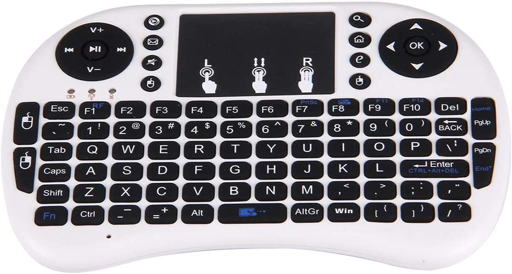 White JINYANG Helpful I8 2.4GHz Fly Air Mouse Wireless Mini Keyboard with Embedded USB Receiver for Android TV Box//PC