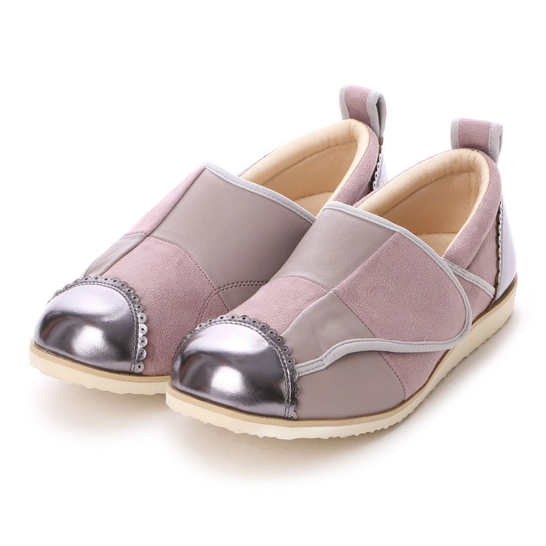 パネルデザインが足を立体的に包み込みます。(クラース)カノン 婦人靴 ウェルネスシューズ コンフォートシューズ B01N11URHE L(24cm~25cm) ラベンダー ラベンダー L(24cm~25cm)