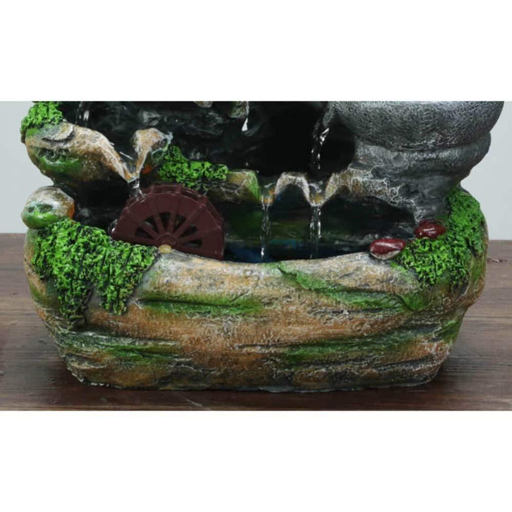 Polyr/ésine Rocaille Fontaine Nature Humidificateur De Lair Ambiant 25 * 16 * 33cm LFLYBCX Fontaine DInt/érieur