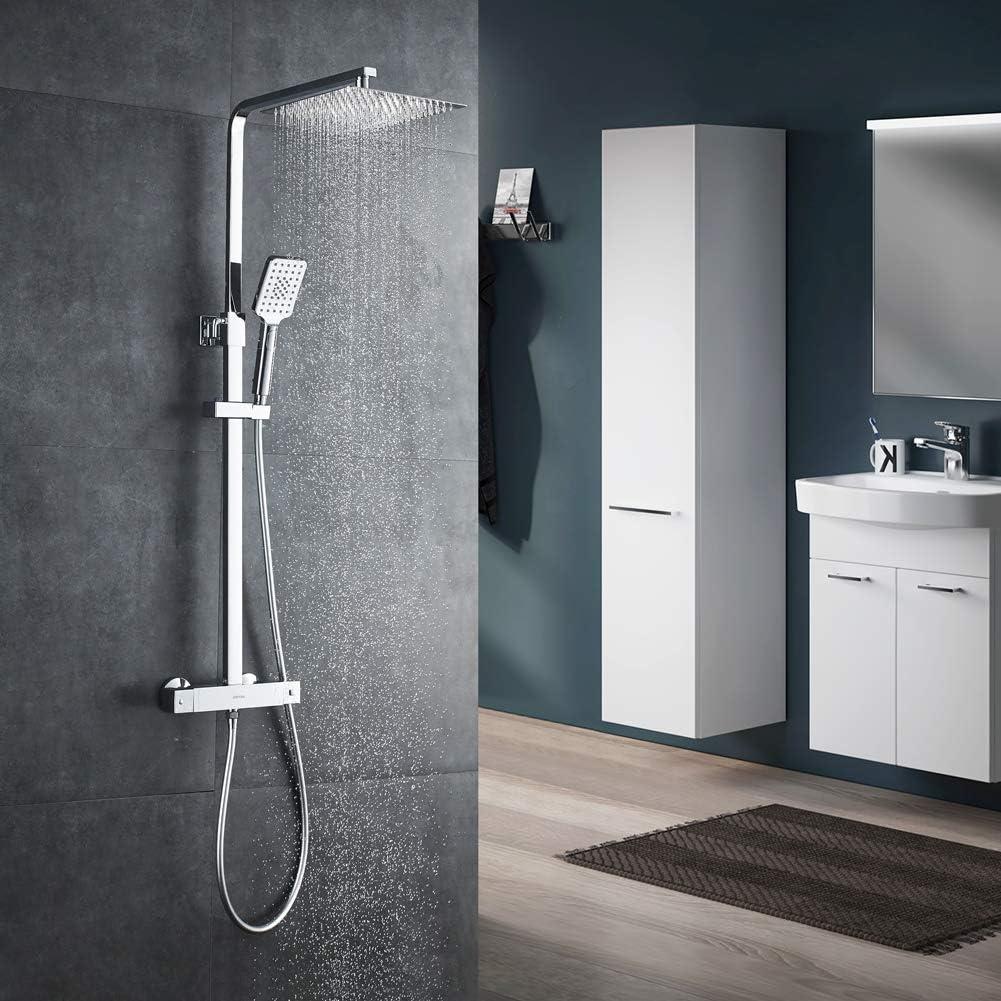 GRIFEMA Edithedge - Columna termostática ducha, sistema de ducha ...