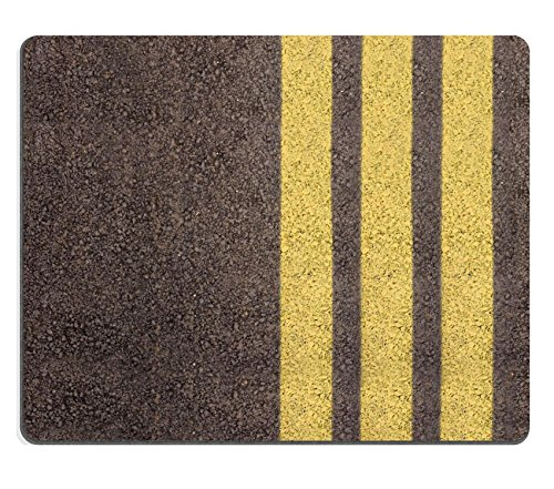 Mousepads Asphalt texture with yellow lines 3878015 by MSD Mat Customized Desktop Laptop Gaming Mouse - Asphalt Laptop