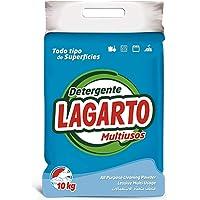 Lagarto Detergente en Polvo MULTIUSO y Lavado Mano, 10 kg