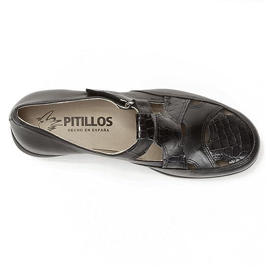 Pitillos 2316- Mocasin liso con suela de goma (40, Negro): Amazon.es: Zapatos y complementos