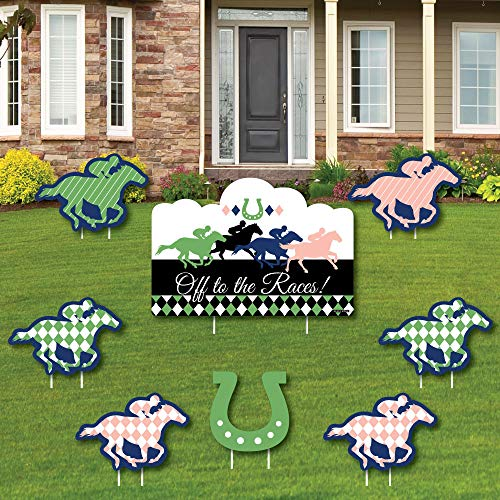 (Kentucky Horse Derby - Yard Sign and Outdoor Lawn Decorations - Horse Race Party Yard Signs - Set of)