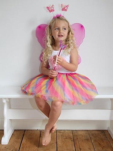 girls fairy princess angel dress up set fancy dress
