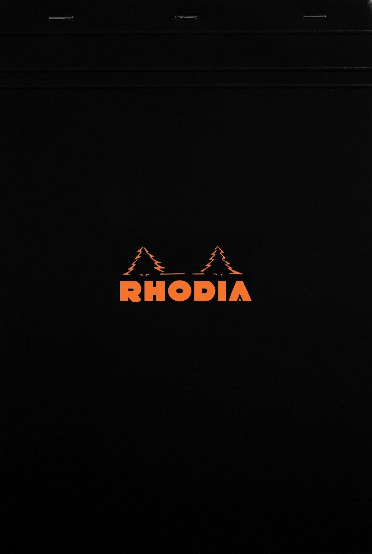 Rhodia Notepads Black Graph 80 Sheet 8.25x11.75, Pack of 5