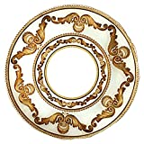 Red Pomegranate 4621-1 Fiona Charger Plates (Set of 4), Cream Gold